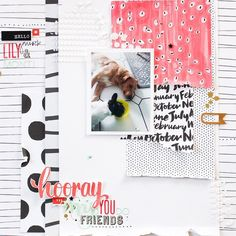 Joining the @jotmagazine February moodboard #scrapbooking challenge. I don't think I can ever get enough of @ashleygoldberg 's gorgeous patterned papers for @studio_calico ❤️ #StampinUp #StudioCalico