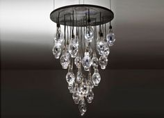 Benjamin Rollins Caldwell's new LED chandelier fuses the structure of mid-century modern style with modern innovation.
