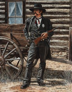This oil painting is titled Tom Mix - Hell Bent For Leather 1928, which features the famous silent-era movie cowboy star, Tom Mix.