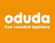 "Check out this @Behance project: ""Oduda - Rounded Typeface (Free Demo Version)"" https://www.behance.net/gallery/22058843/Oduda-Rounded-Typeface-(Free-Demo-Version)"
