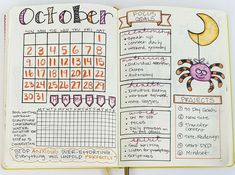 Plan with Me! My October Bullet Journal Setup - Sublime Reflection Monthly Bullet Journal Layout, Bullet Journal Notebook, Bullet Journal How To Start A, Bullet Journal Ideas Pages, Bullet Journal Inspo, Bullet Journals, Bible Journal, Filofax, Planners