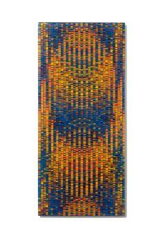 Tapestry Wall Panel: Richard Parrish: Art Glass Wall Art | Artful Home    Is kilm-formed but looks like mosaic
