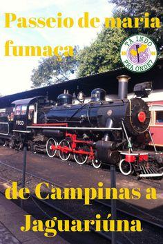 Veja como é o passeio com a maria fumaça histórica de Campinas a Jaguariúna (SP)!