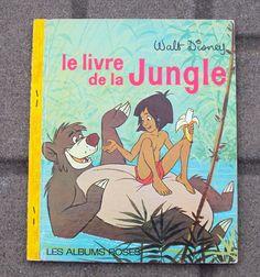 Vintage French Childrens Book - Le Livre De La Jungle (1968) - The Jungle Book - Les Albums Roses