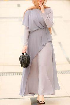 Hijab Dress Party, Hijab Style Dress, Modest Fashion Hijab, Muslim Fashion, Fashion Dresses, Modest Outfits Muslim, Fashion Muslimah, Modest Clothing, Abaya Mode