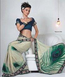 Aashi Peacock 2019 Saree