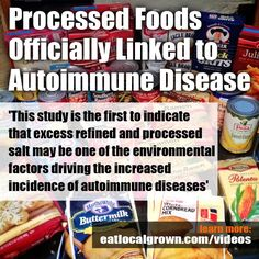 The modern diet of processed foods, takeaways and microwave meals could be to blame for a sharp increase in autoimmune diseases such as multiple sclerosis, including alopecia, asthma and eczema. Processed salt may be one of the environmental factors drivi Autoimmune Paleo, Autoimmune Disease, Crohn's Disease, Asthma, Health And Wellness, Health Tips, Lupus Awareness, Microwave Recipes, Living At Home