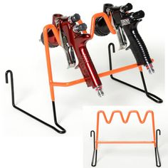 Devilbiss-Multi-Gravity-Feed-Paint-Spray-Gun-Holder-Stand-HVLP-Wall-Bench-Mount