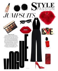 """Jumpsuit#2"" by carlaandreea07 on Polyvore featuring Dolce&Gabbana, Diophy, Le Specs, Wild & Woolly, Eloise, Giorgio Armani, Mr & Mrs Italy, Alexis, Lime Crime and jumpsuits"