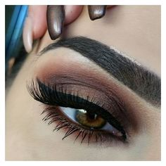 Instagram photo by @rania_bellamarie_mua - via Iconosquare ❤ liked on Polyvore featuring beauty products, makeup, eye makeup, gel eye liner, liquid eyeliner, eye brow makeup, eyebrow cosmetics and brow makeup