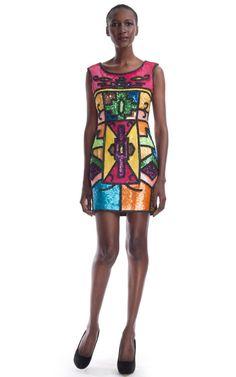 Add some coloured sparkle to your festive wardrobe.    Todd Oldham Embellished Tank Dress on ModaOperandi.com