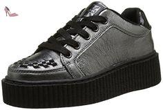 T.U.K. Graphite Leath Inter Casbah Creeper, Baskets Basses Mixte Adulte, Argent (Graphite Metallic Leather), 39 EU - Chaussures tuk (*Partner-Link)
