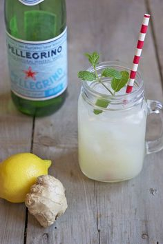 Sparkling Ginger Lemonade #refreshing #ginger #lemonade