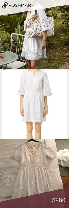 NWT Tory Butch Larissa Dress Size 4 White New with tags Tory Burch size 4 white Larissa dress - perfect white lace dress by the best designer! So cute on, just sadly too big on me now. Tory Burch Dresses