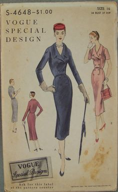 Vogue S4648 Special Design Sewing Pattern Misses by knightcloth, $47.95
