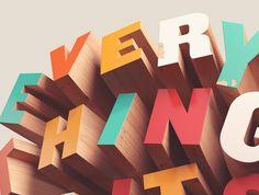3D Typography by David Mcleod   Inspiration Grid   Design Inspiration