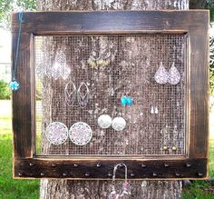 Could be a possibility for organizing my earrings and necklaces :D want something creative and original!