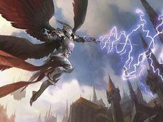 MTG January's Friday Night Magic promo Warleader's Helix art