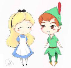 deviantART Socks Cartoon Alice Cute | Alice and Peter Pan by neruteru