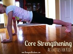 core strengthening exercises for This one is for you, Sarah! These are the easiest core strengthening exercises to help kids build a strong, solid foundation that will support their development in all areas. Movement Activities, Therapy Activities, Motor Activities, Therapy Ideas, Physical Activities, Fitness Activities, Elementary Physical Education, Elementary Schools, Pediatric Physical Therapy
