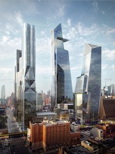 New York Hudson Skyscrapers. We\'re back baby! #architecture