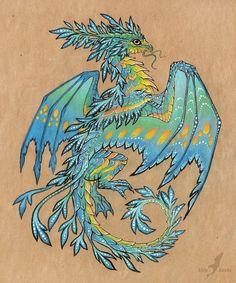 Эскиз дракона от Alvia Alcedo