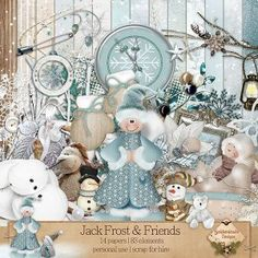 Jack Frost & Friends (Page Kit} by SnickerdoodleDesigns