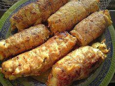 Куриные рулетики с грибами и сыром в сметанном соусе - 1000