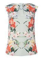 Womens **Billie & Blossom Multi Coloured Sage Butterfly Print Shell Top- Fl Multi