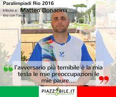 Matteo BONACINA tiro con l'arco paralimpiadi Rio 2016 www.piazzabile.it atleta italia