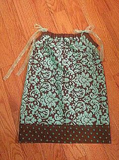 Brown n Teal Pillowcase Dress by MiniandMaxi on Etsy, $20.00