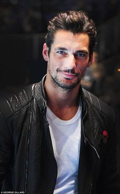 David Gandy at the ATP World Tour. Photo by Georgie Gillard David Gandy, Famous Male Models, Mollie King, Androgynous Models, Dolce E Gabbana, Men's Fashion, British Men, Good Looking Men, Perfect Man