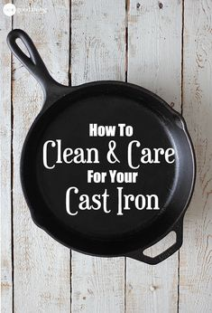 If you take good care of your cast iron, it will take good care of you for years and years to come. Learn how to clean and care for my favorite piece of cookware.