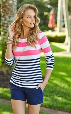 Lilly Pulitzer Gwyneth Striped Sweater is the perfect pullover sweater for your summer night.