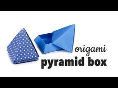 Origami Pyramid Box Tutorial ♥︎ DIY ♥︎ Cute Gift Box ♥︎ Paper Kawaii - YouTube