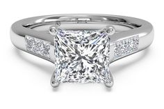 SOLITAIRE CHANNEL-SET DIAMOND BAND ENGAGEMENT RING