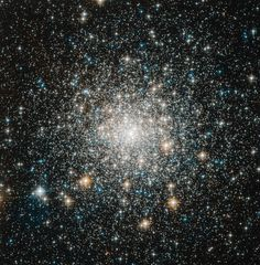 Messier 70. This globular cluster is approximately 68 light years away.