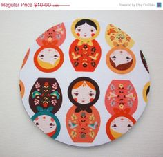 NEW Year SALE  mousepad / Round or rectangle Mouse Pad / by Laa766, $9.00