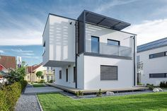 Located in Munich, Germany, the concept house known as Poing House was designed by German studio Luxhaus.