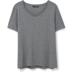 Basic T-Shirt ($14) ❤ liked on Polyvore featuring tops, t-shirts, shirts, t shirts, mango tee, short-sleeve shirt, short sleeve tee and mango tops