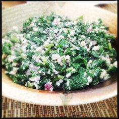 Spinach Thoran | Spinach Stirfry with Coconut