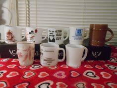 Nice Big Lot Of 7 Fire-King Milk Glass Cups/Mugs & 1 Not Fire King-Total of 8 #FireKingOvenProof