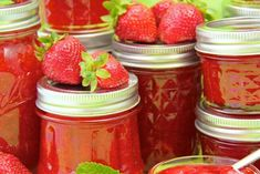 This delicious, fresh tasting Strawberry Freezer Jam is to me, like springtime in a jar!!!