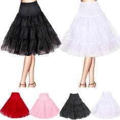 50er 60er Jahre Petticoat Tüllrock Unterrock Rockabilly Retro 4 Farben | eBay