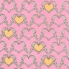 http://www.kawaiifabric.com/en/p8529-pink-Riley-Blake-skeleton-hand-heart-fabric.html