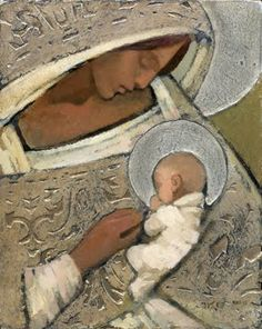 J Kirk Richards - Madonna and Child in Silver Blessed Mother Mary, Blessed Virgin Mary, Catholic Art, Religious Art, Jesus E Maria, Images Of Mary, Queen Of Heaven, Mama Mary, Mary And Jesus