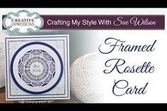 Framed Rosette Card