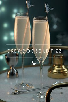 Can't make it to the red carpet? Create a Le Fizz and bring Hollywood's biggest night to you. Pour 1 ½ Parts GREY GOOSE® Vodka, 1 Part St-Germain Elderflower Liqueur and ¾ Part Fresh Lime Juice into a cocktail shaker. Shake over ice and double straight into a chilled flute. Top with 2 Parts Chilled Soda Water.