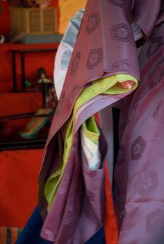the detail of Juni-hitoe kimono (Japanese ancient 12 layers kimono)