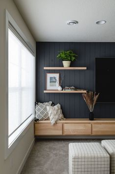 Living Room Tv, Home And Living, Small Living Rooms, Tv Wall Ideas Living Room, Small Media Rooms, Bedroom Tv Wall, Tv Wall Decor, Living Walls, Living Comedor